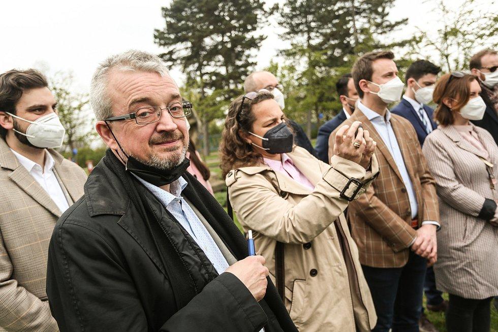 Představení pražské kandidátky koalice SPOLU se na Petříně konalo v sobotu 1. května 2021. Na snímku poslanec Marek Benda.