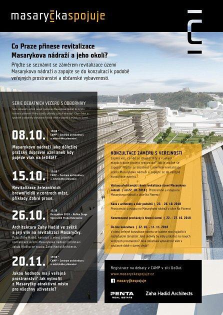 Masaryčka spojuje. Do projektu firmy Penta na Masarykově nádraží se může zapojit iveřejnost.