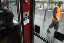 Tramvajová zastávka Želivského. Ilustrační foto.