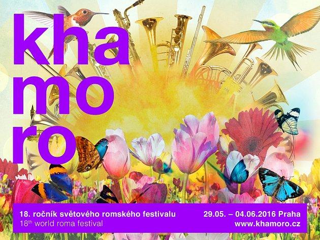 Pozvánka na romský festival Khamoro vPraze.