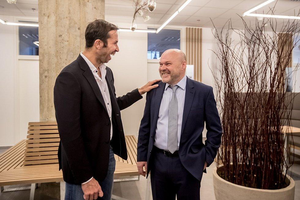 Druhé pracoviště Centra pohybové medicíny Pavla Koláře bylo otevřeno 6. února 2018 v Praze. Raděk Štěpánek, Pavel Kolář
