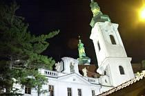 Strahovský klášter v noci.