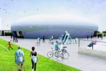 Sportovní hala v Dolních Břežanech bude mít obal z hliníkové šindele. V interiéru pak bude využit unikátní systém denního osvětlení světlovody.
