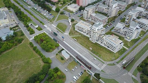 Vizualizace tramvajové tratě Modřany - Libuš.