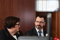 Ministryně spravedlnosti Marie Benešová (za ANO) uvedla 2. ledna 2020 v Praze do funkce nového předsedu Vrchního soudu v Praze Luboše Dörfla.