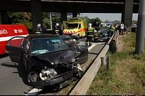 Místo havárie na Rozvadovské spojce, kterou nepřežil devatenáctiletý hoch.