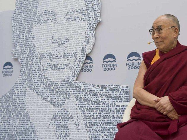 Dalajláma vystoupí na konferenci Forum 2000