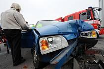 Nehoda v ulici Na Pankráci.