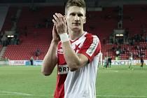 Fotbalový útočník Milan Škoda v dresu pražské Slavie.