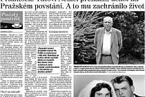 Část strany 2 tištěného vydání Pražského deníku ze soboty 21. června 2014.