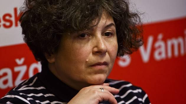 Setkání se spisovateli při Velkém knižním čtvrtku 20. března v Praze. Irena Dousková