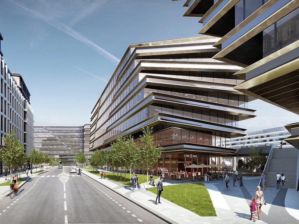 Vizualizace: komplex nazvaný Central Business District.