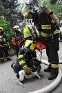 Zásah hasičů na Černém Mostě.