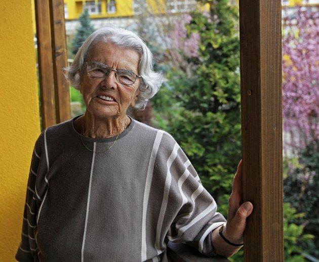 Pamětník - Marie Fialová.