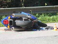 Nehoda motorky. Ilustrační foto.
