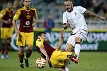 Michal Breznaník ještě v dresu Sparty a zrovna v ligovém zápase s Duklou.