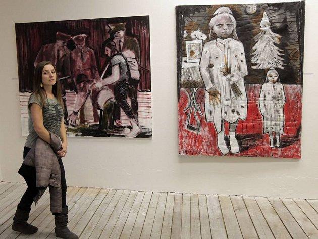 Ze zahájení 13. ročníku veletrhu současného umění Art Prague v Kafkově domě v Praze.