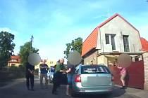 Zadržení pachatele krádeže vozu.