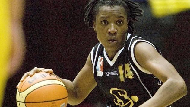 Černá perla. Rozehrávačka basketbalistek Sparty Nicole Loudenová.