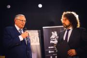 Jan Petrof s moderátorem soutěže Vladimír Krocem.