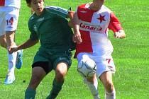 Dorost Slavie porazil Most 4:0. Dva góly vstřelil Marek Šittich (vpravo).