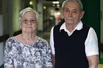 Pamětníci - manželé Arnošt Vašnovský a Jiřina Vašnovská.