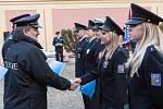 Ze slavnostního složení služebního slibu u Policie ČR v Praze.