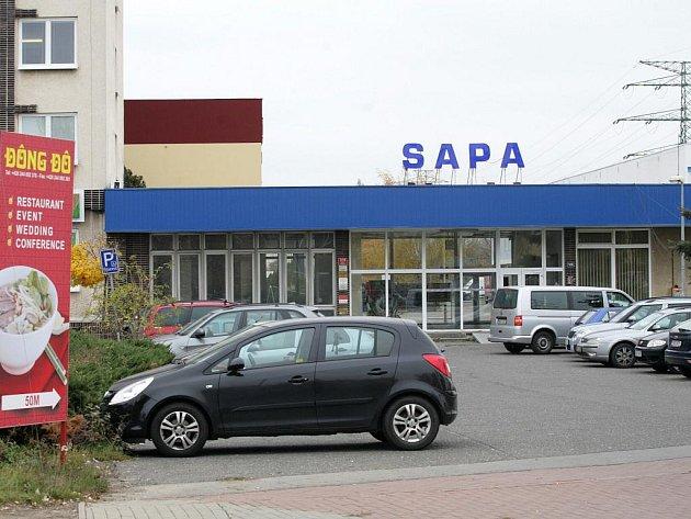 Vietnamská tržnice Sapa v pražské Libuši.
