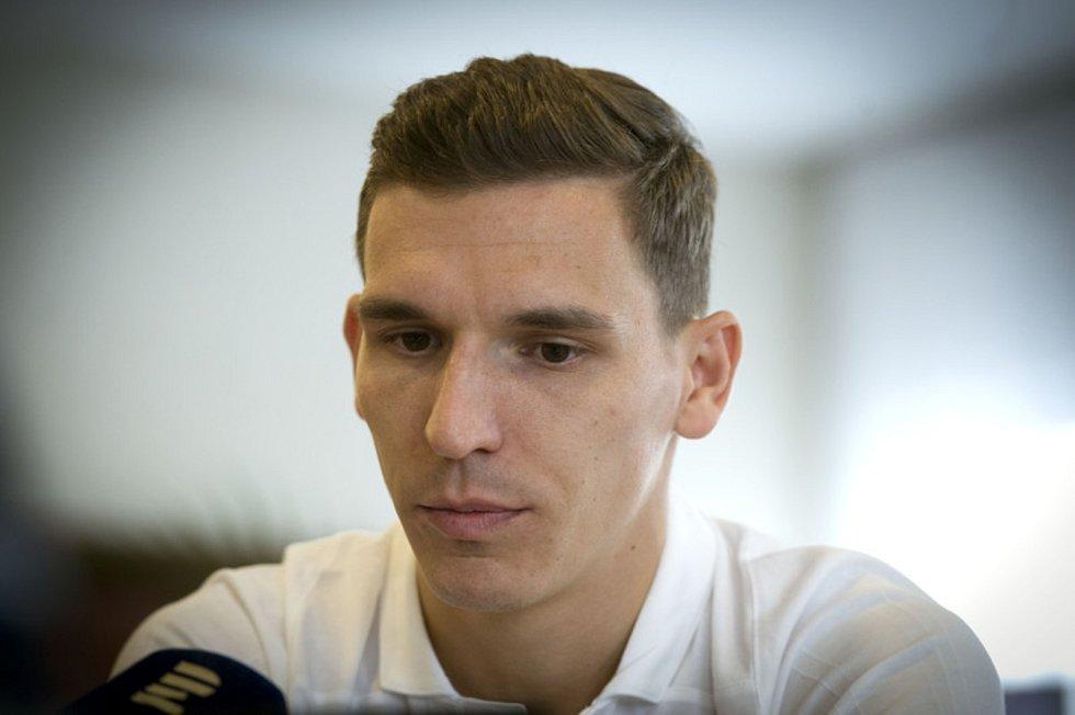 Fotbalový záložník David Pavelka (na snímku z 8. října 2018).
