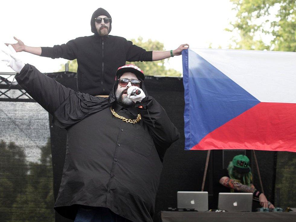 Festival United Islands of Prague. Na snímku skupina Kapitán Demo na Dětském ostrově.