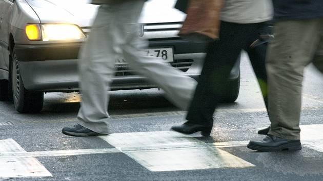 Přechod pro chodce. Ilustrační foto.