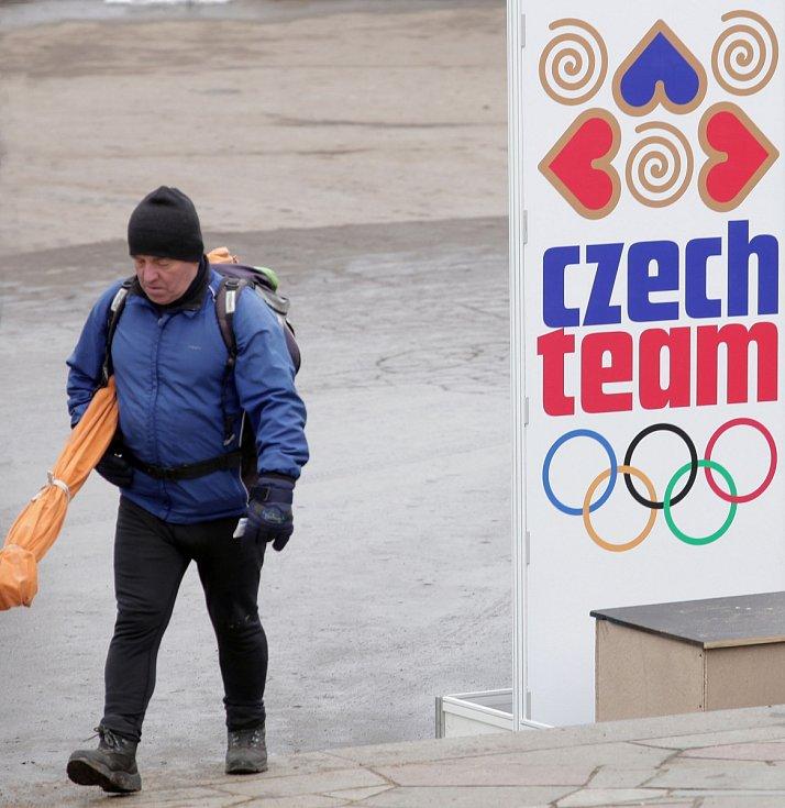 Olympijský park Letná v pátek 7. února.