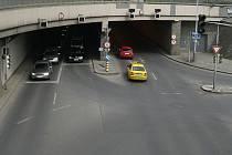 Těšnovský tunel v Praze.