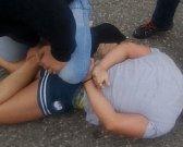 Zadržení muže, který přepadl sázkovou kancelář.
