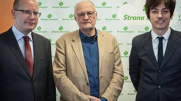 Václav Bělohradský, společný kandidát SZ a ČSSD.