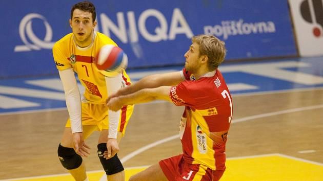 Mark Šulc (vlevo) a Martin Kop ještě v dresu ČZU Praha.