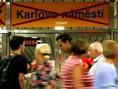 Metro Karlovo náměstí.