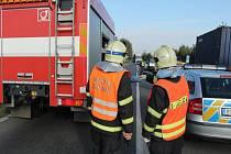 Tragická nehoda, při níž minulý čtvrtek zemřel po střetu s kamionem motorkář.