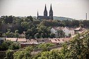 Čtvrť Nusle 17. srpna v Praze. Nusle, Vyšehrad, bydlení, činžák, činžovní dům
