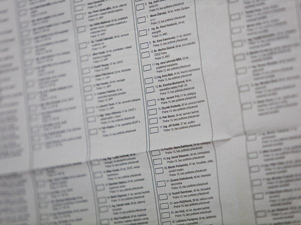 Komunální volby začaly 10.října po celé republice. Na snímku ZŠ Brdičkova na pražských Lužinách.