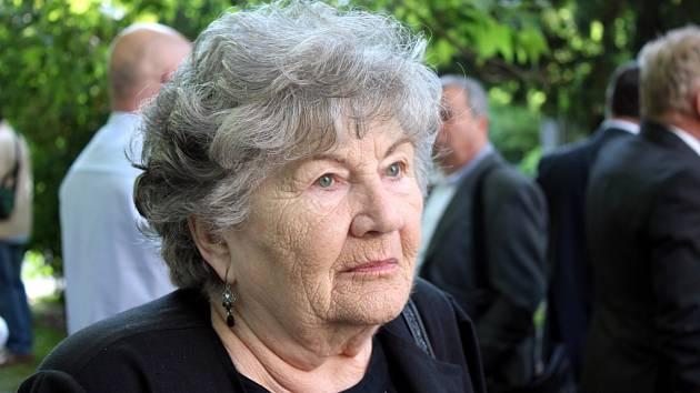 Zuzana Marešová v roce 2014 na zahájení výstavy Wintonovy vlaky.
