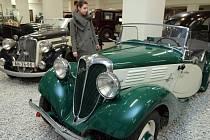 Zahájení výstavy Osobní automobily Praga v Národním technickém muzeu 18.prosince