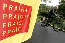 Pražská cyklostezka Modřany - Zbraslav.