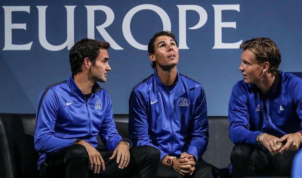 Laver cup, hraný 22. září v Praze. Nadal, Berdych, Federer