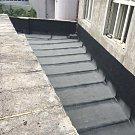 Kontrolní den rekonstrukce Paláce Svět. Nově položená izolace střech.
