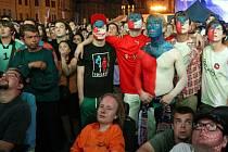 Česko – Portugalsko, fotbal ME 2012, Staroměstské náměstí ve čtvrtek 21. června.