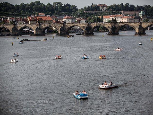 Léto na Vltavě.