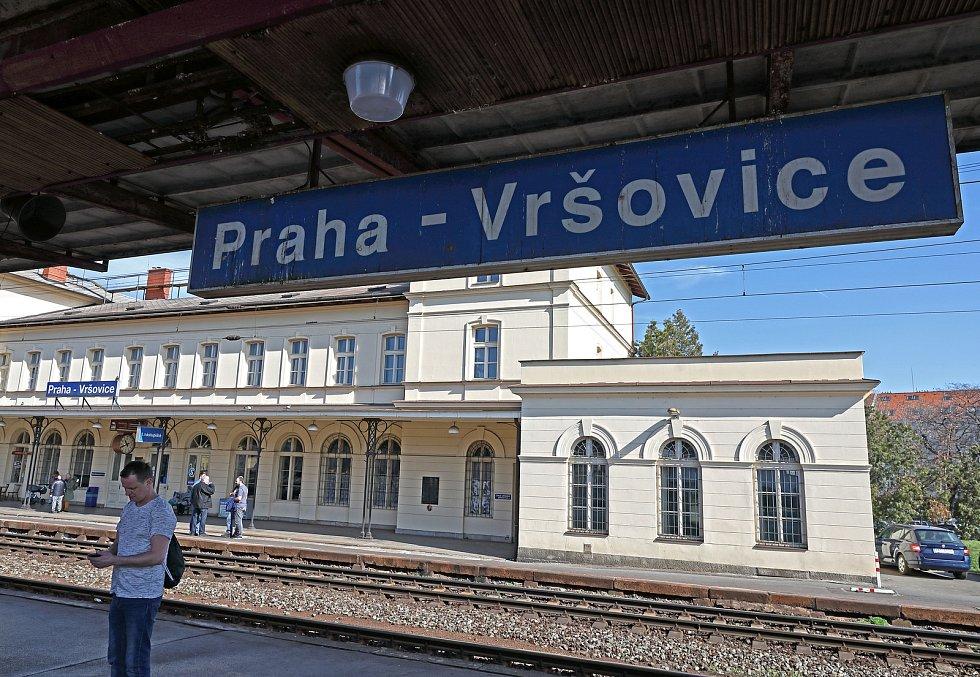 Vlakové nádraží Praha - Vršovice.