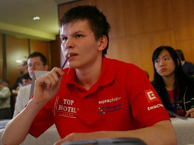 V Praze dne 29 března proběhlo Mistrovství světa v luštění sudoku. Na fotografii: Jakub Ohroušek