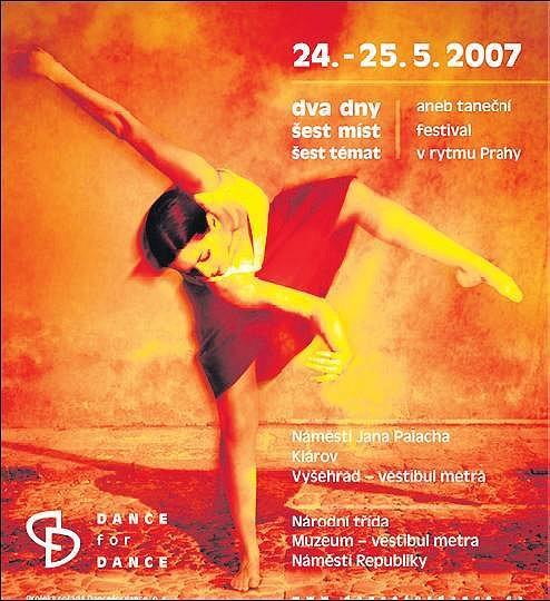 Výřez z plakátu k tanečnímu festivalu.